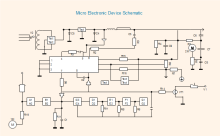 Diagrama esquemático de dispositivos eletrónicos