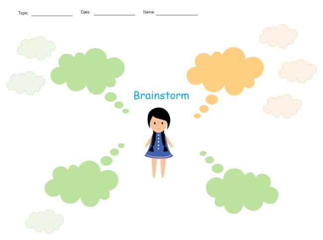 brainstorm graphic organizer