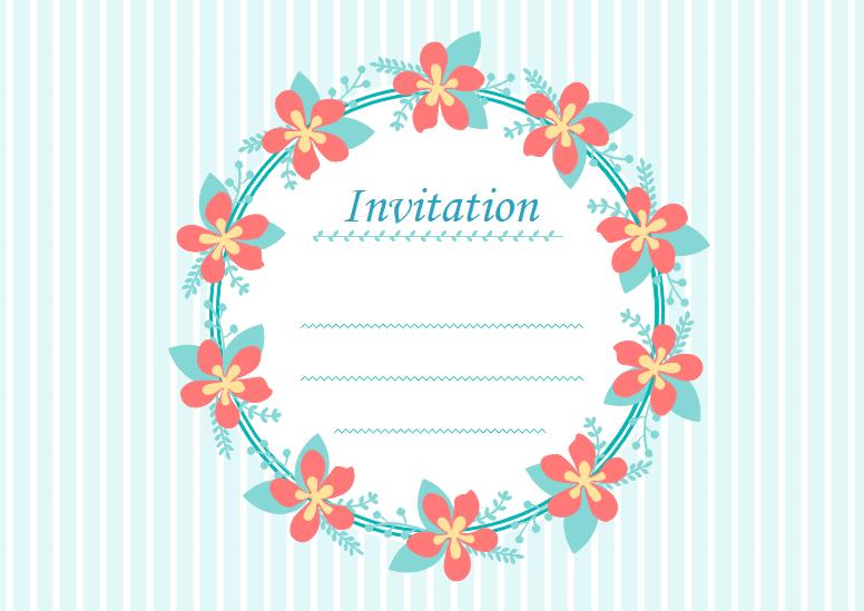 無料招待状カードテンプレート