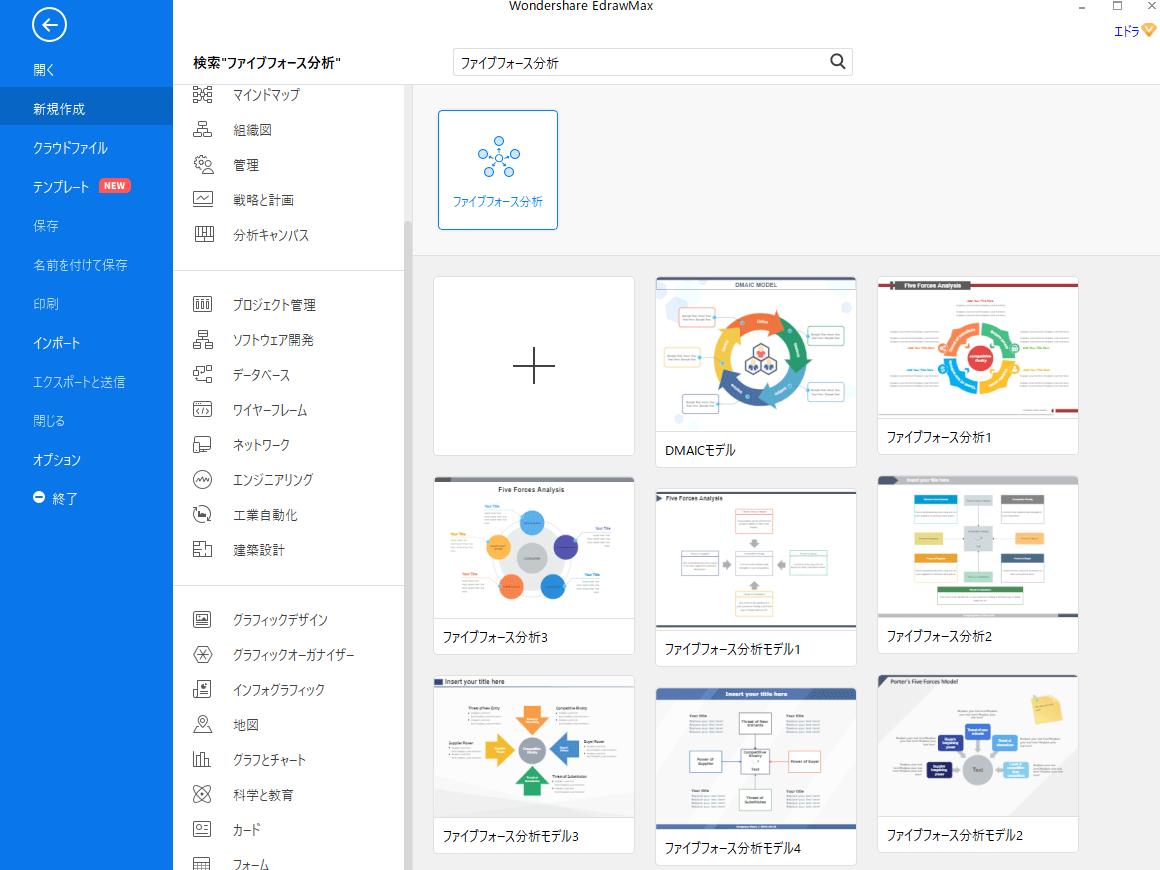 ファイブフォース分析ソフトEdrawMax