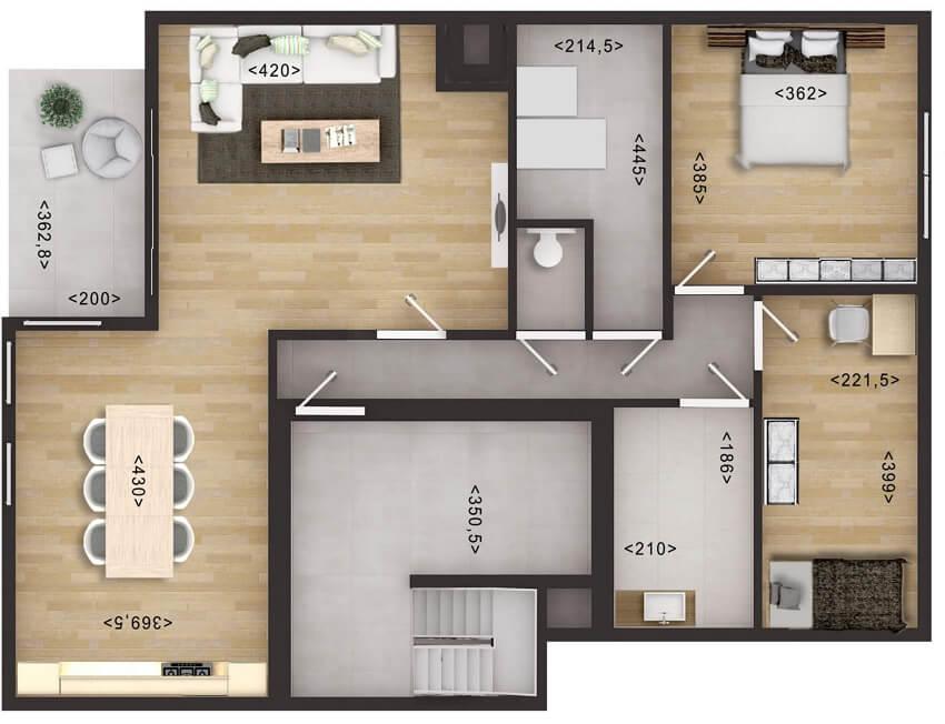 2d furniture floor plan