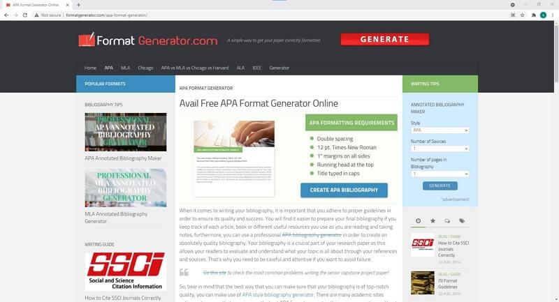APA Format Generator