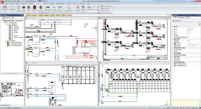 SolidWorks Electrical Schematics