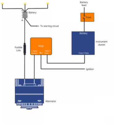 PCM Controlled Wiring Diagram