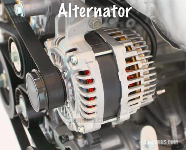alternator wiring in car