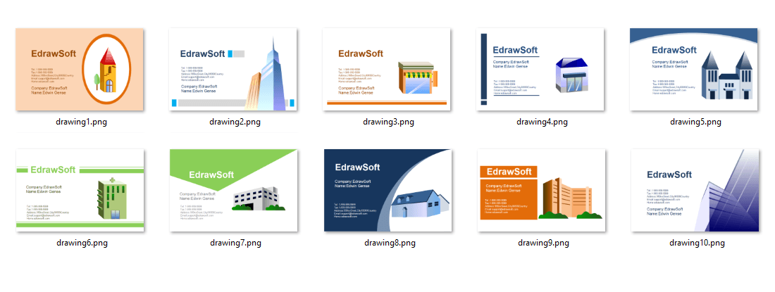 Business Card Templates about architecture