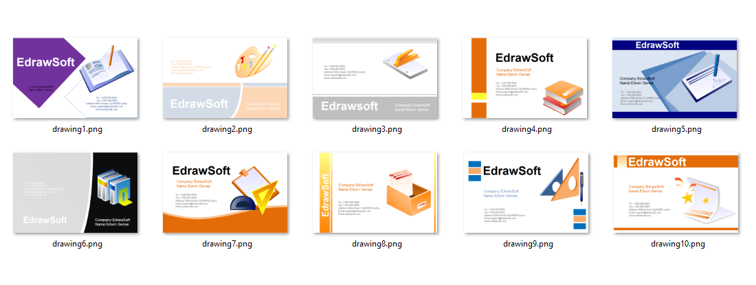 Business Card Templates about education