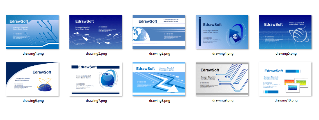 Business Card Templates about Science