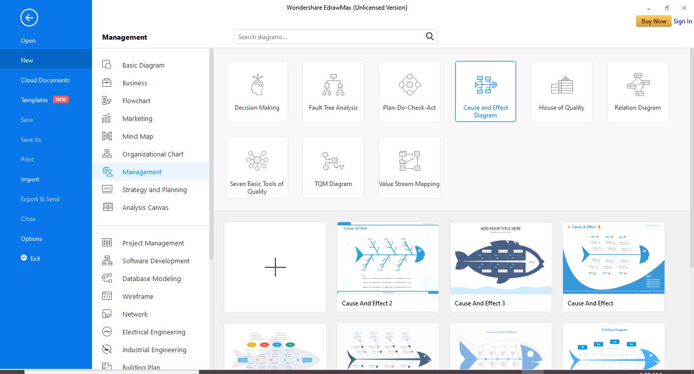 Pick a Fishbone Diagram Template