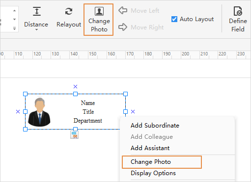 Add Picture in the Organizational Chart Shapes