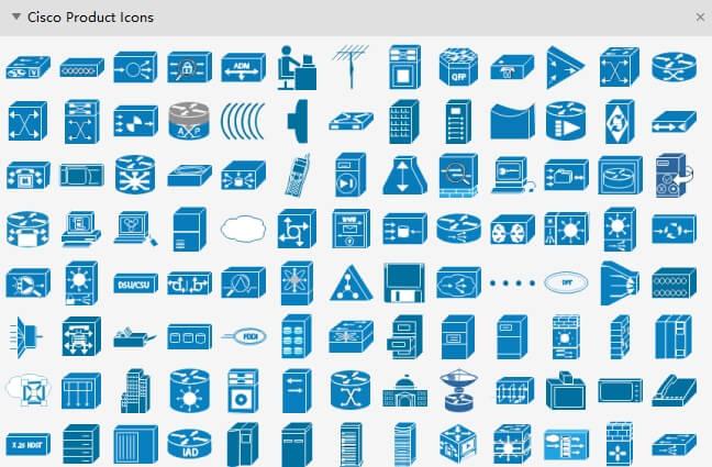 ícones de produtos cisco