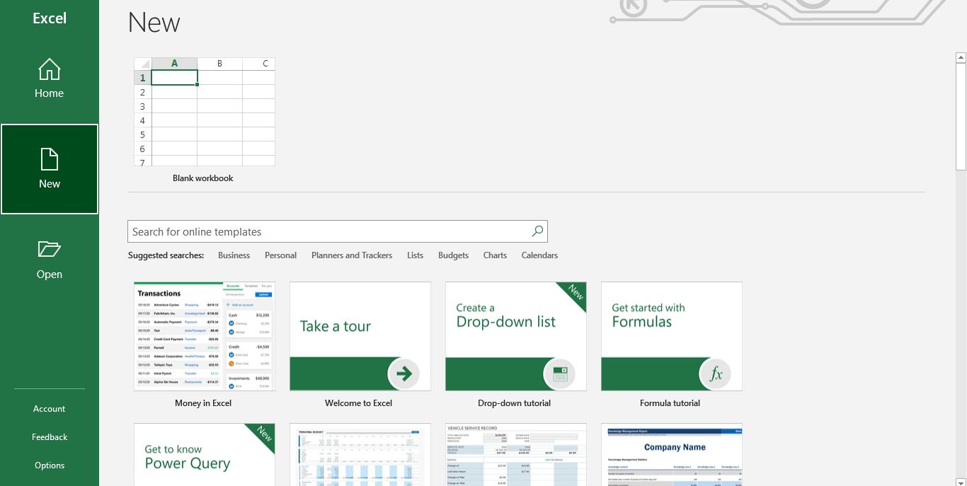 Inicie Microsoft Excel