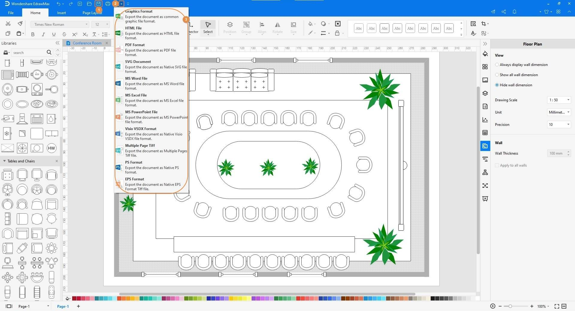 steps to create a seating chart