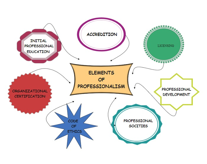 Concept Map that explores the Elements of Professionalism