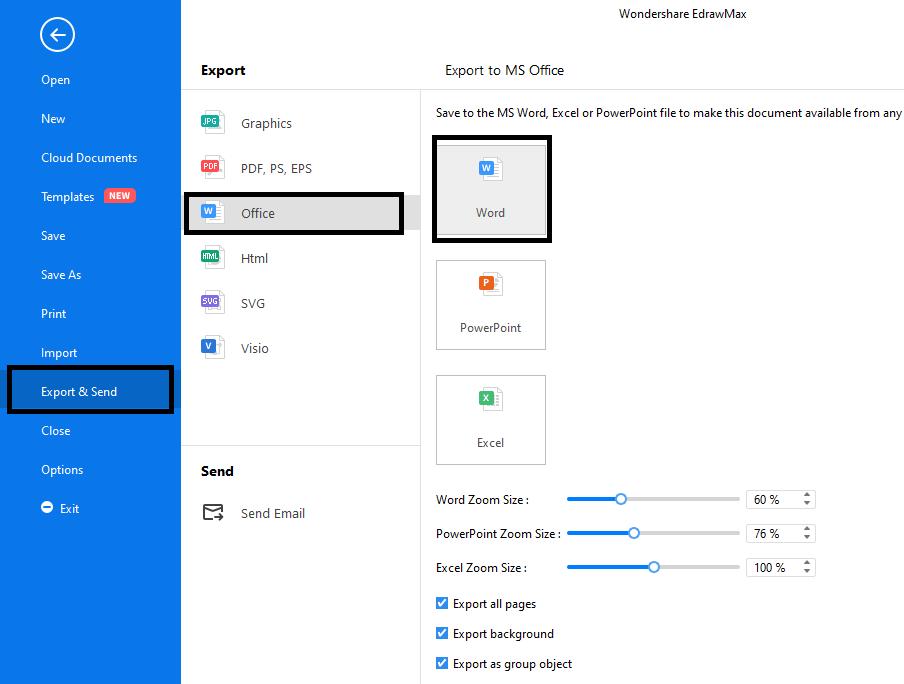 Export file in EdrawMax