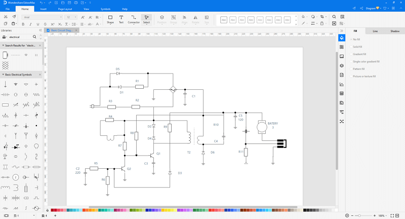 make electrical diagram in EdrawMax