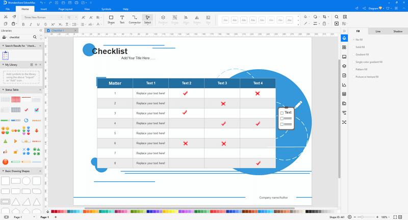 make checklists in EdrawMax