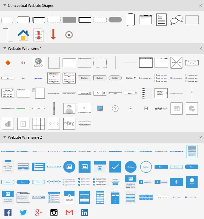 Conceptual Website Symbols