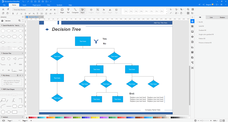 make decision trees in EdrawMax