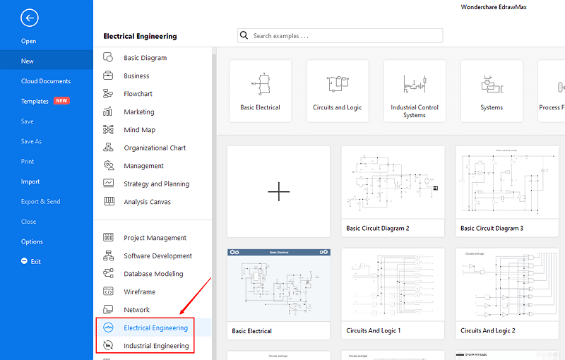 open engineering diagram template category