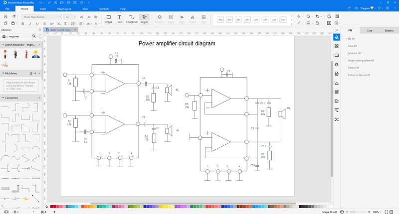 make engineering diagram in EdrawMax