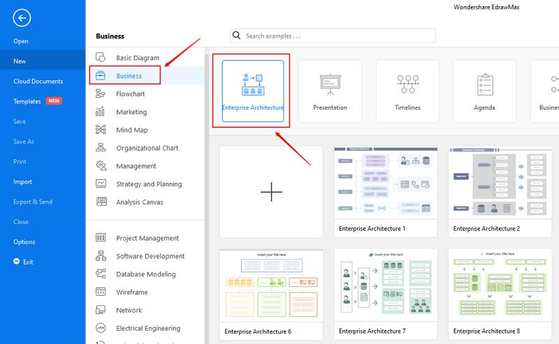 open enterprise architecture diagram category