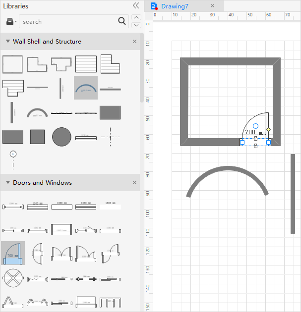 Add Floor Plan Shapes