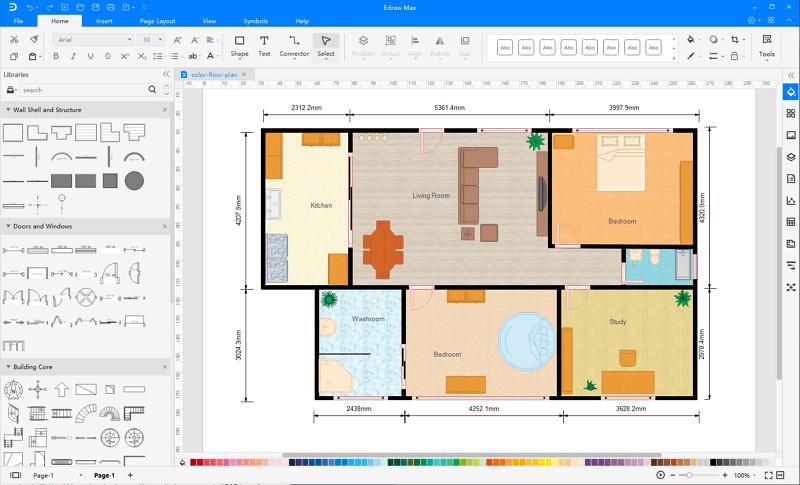 Complete a Floor Plan
