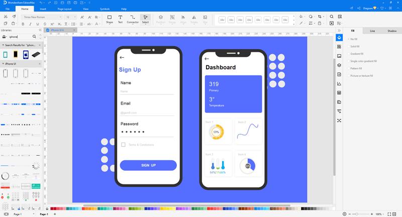 open iPhone UI template