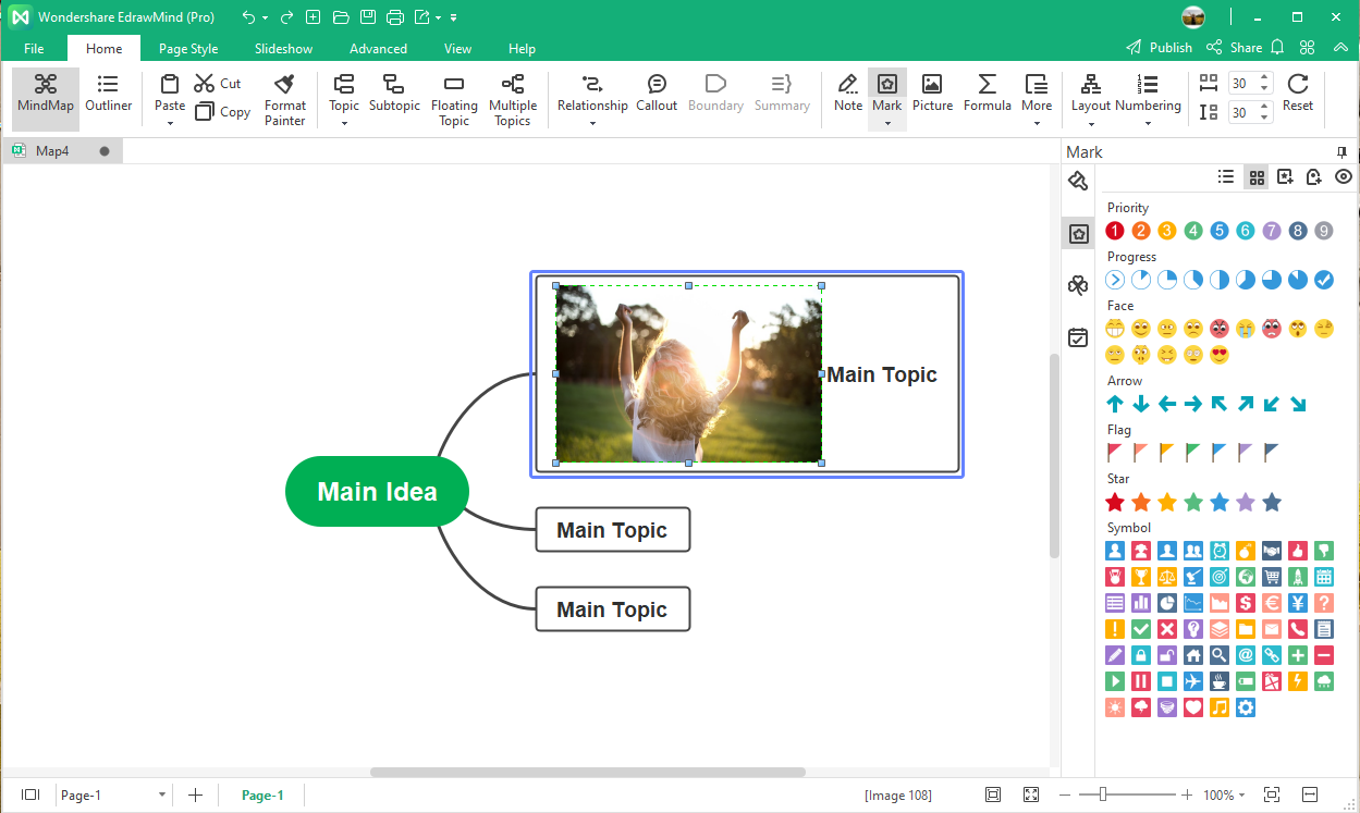 export and share the mind map