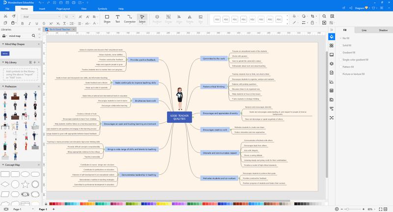make mind map in EdrawMax