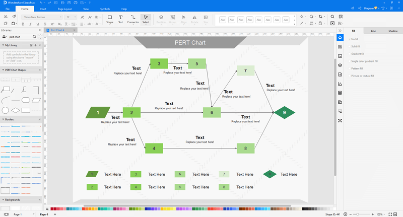 make pert chart in EdrawMax