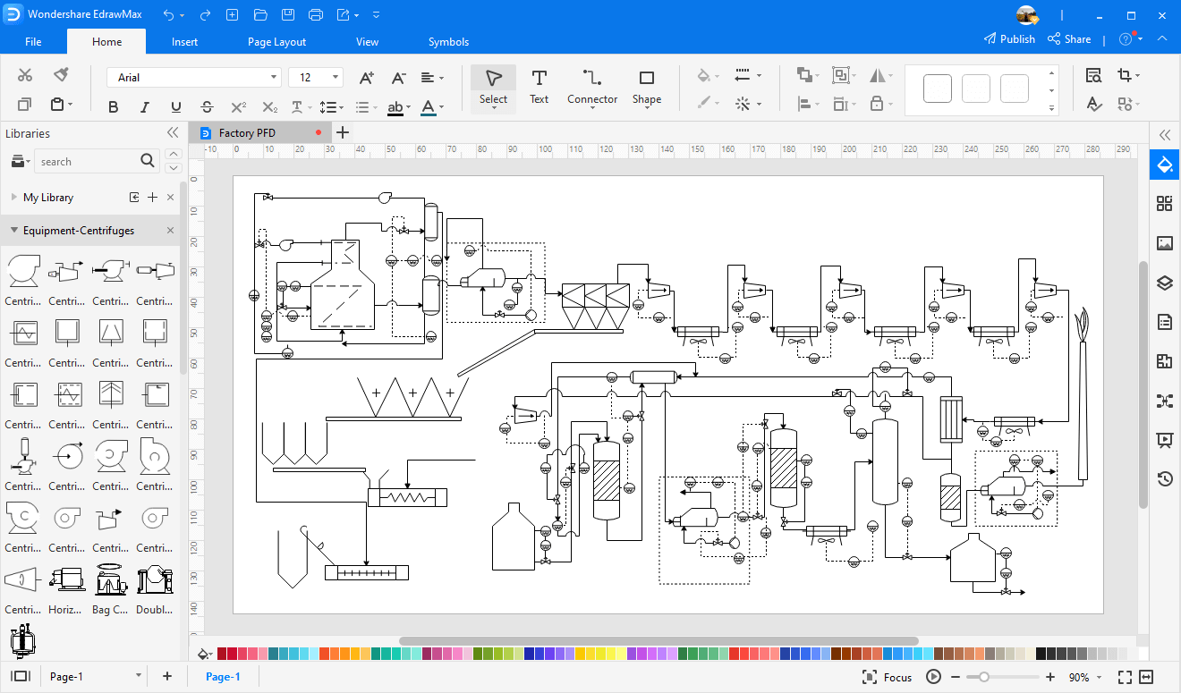 make process flow diagram in EdrawMax