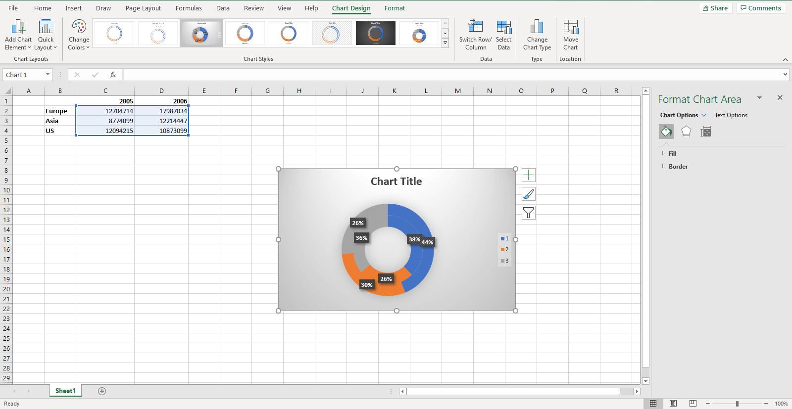 Edit the Donut Chart