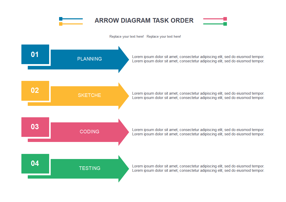 Arrow Diagram Task Order Template