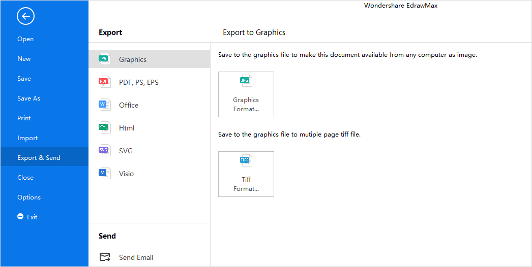 save and export file in EdrawMax