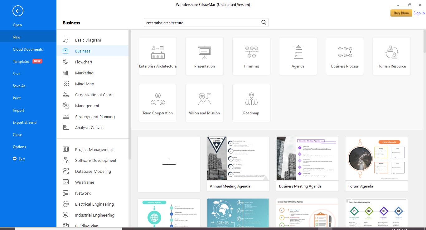 Go to New/Business/Enterprise Architecture