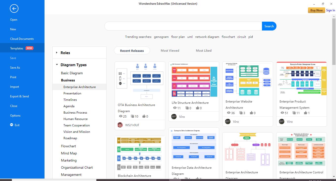 Launch EdrawMax software