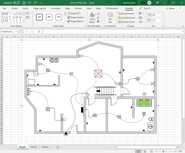 Edit Floor Plan in Excel