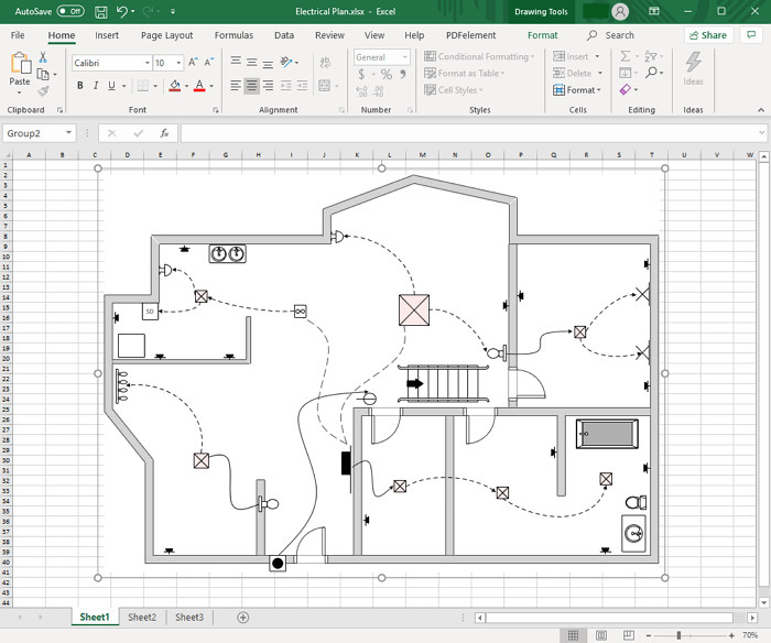 Create Floor Plan Diagram for Excel