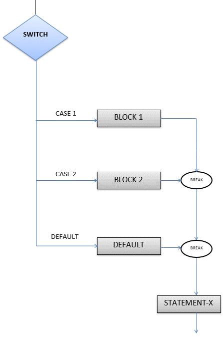 Switch Case Flowchart