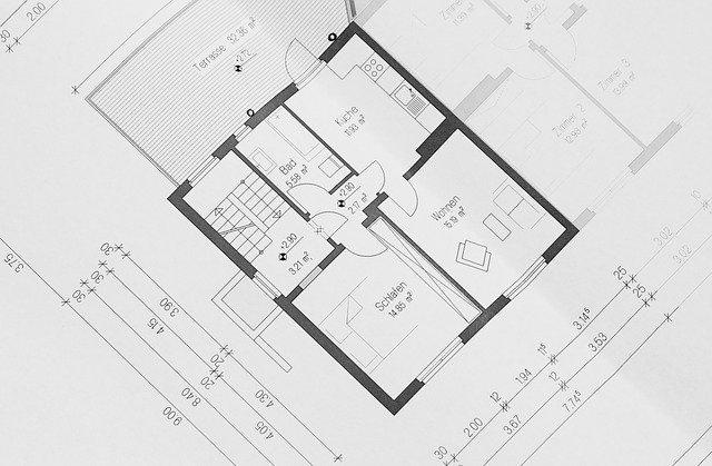 Hand-drawn floor plan