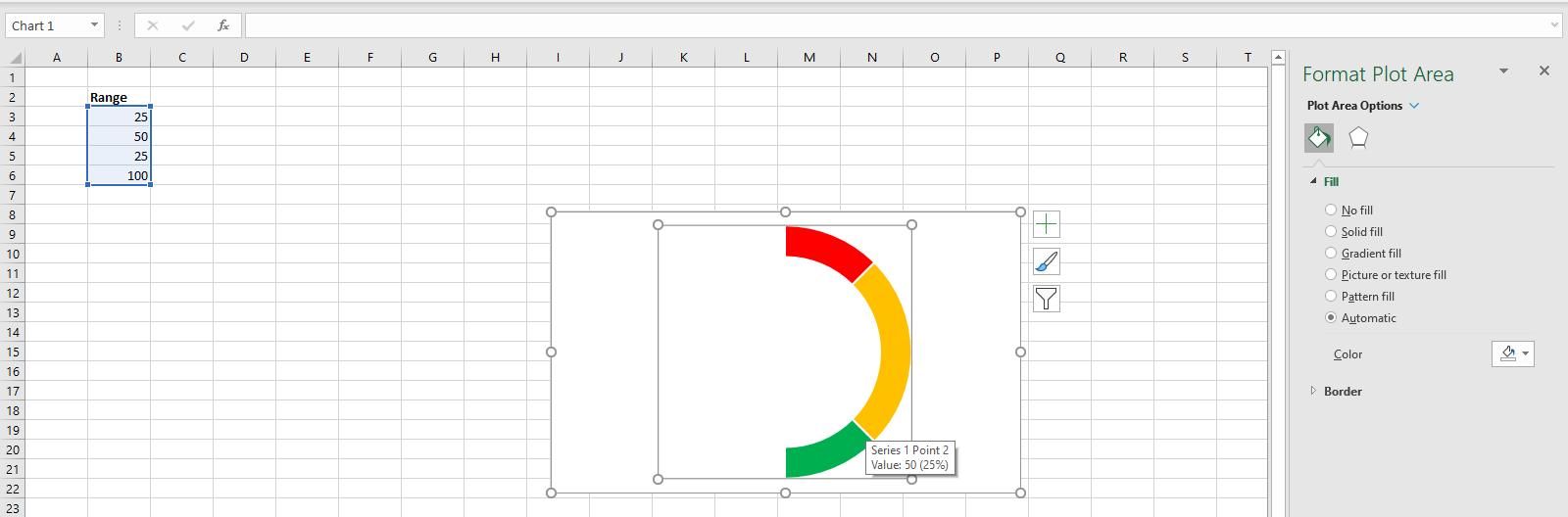 Edit the Doughnut Chart