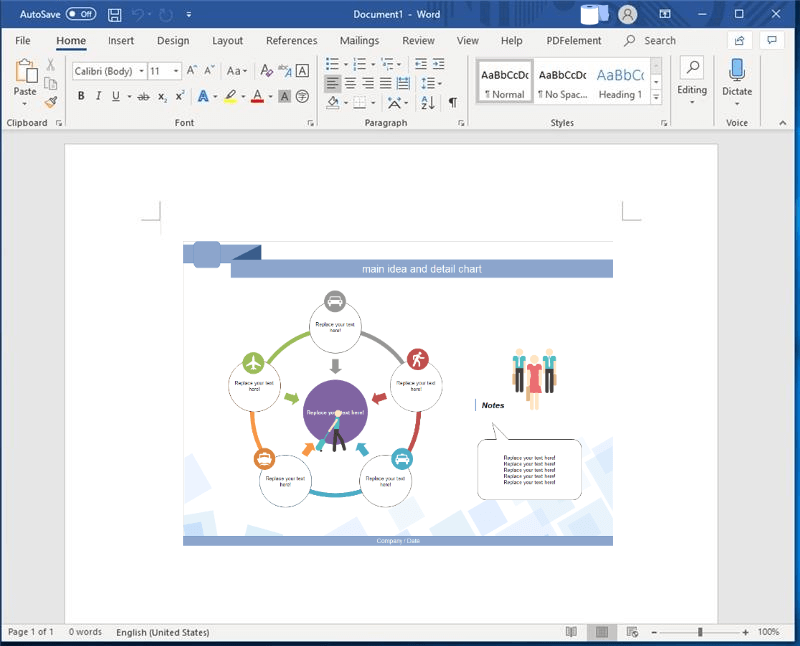 Create Graphic Organizer on Word