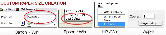 Customize Print Size