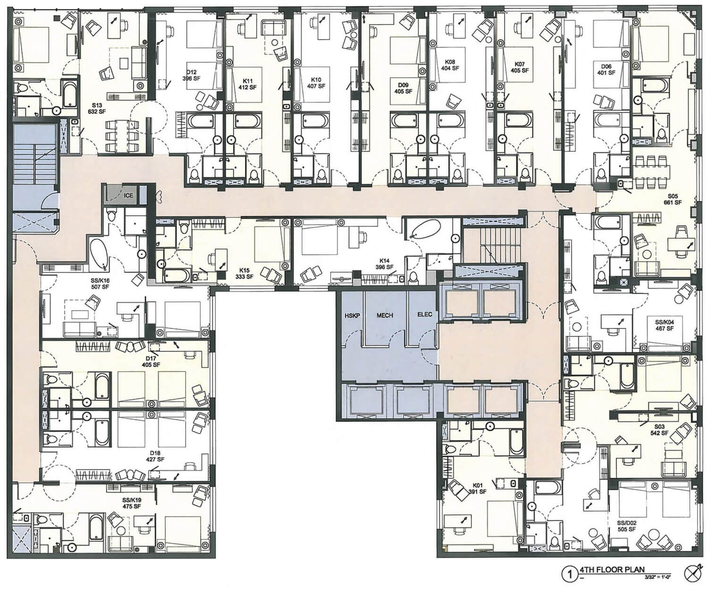 Hotel Floor Plan Templates
