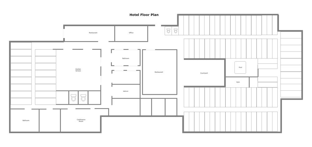 Modern Hotel Floor Plan Templates