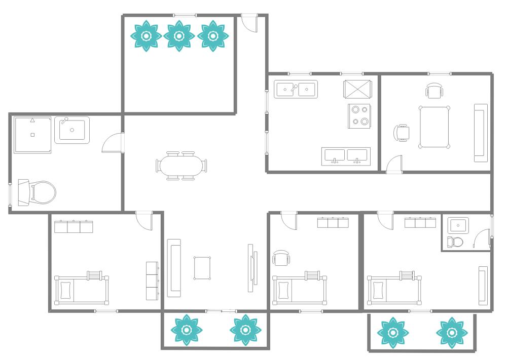 Large Hotel Suite Floor Plan Templates