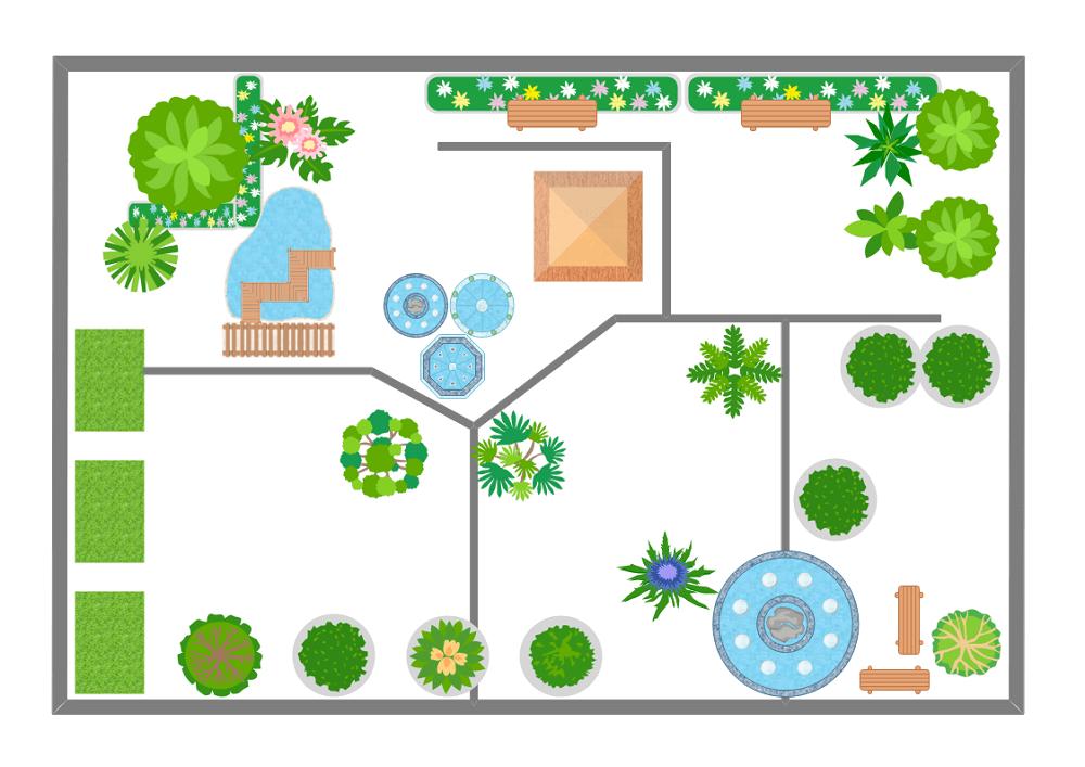 Hotel Garden Floor Plan Templates