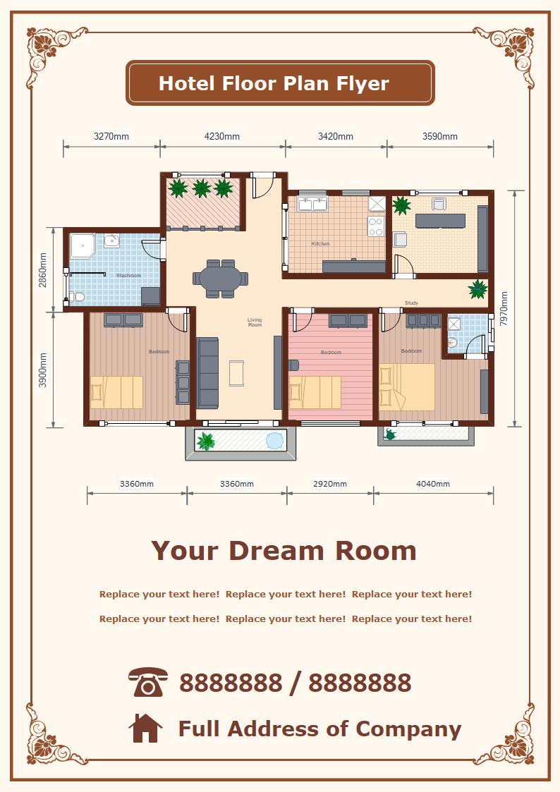 Hotel Floor Plan Flyer